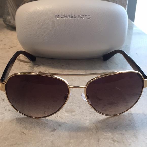 Michael Kors Blair Aviator Sunglasses, bronze lens